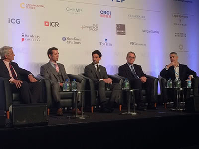 Jeremy Peruski speaking at global investors conference